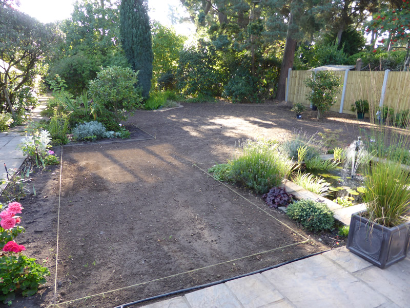Landscape Gardeners Bournemouth Laying new garden turf ferndown bournemouth we removed old garden turf which included rotivating we then marked out and levelled and prepared new turf for laying our client was satisfied and the workwithnaturefo